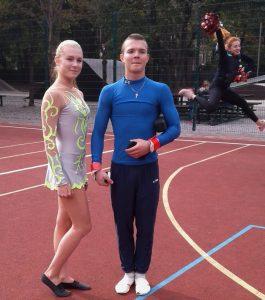 1-КМСУ зі спорт.акробатики Шаповалова К. і КМСУ зі спорт.гімнастики Колесник Д.