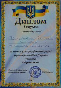 Городской фестиваль-конкурс украинской песни «Венок Украины»